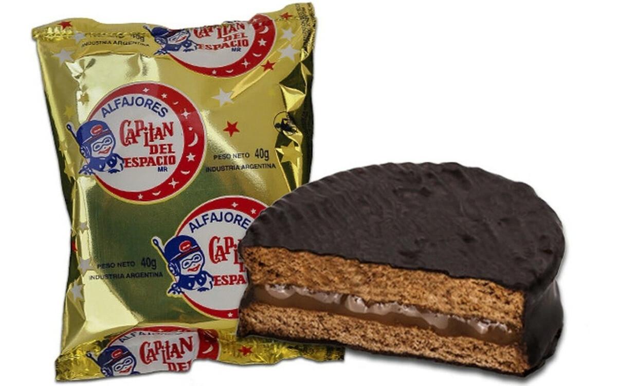 ALFAJOR DE CHOCOLATE NEGRO, CAPITAN DEL ESPACIO, 40 gr