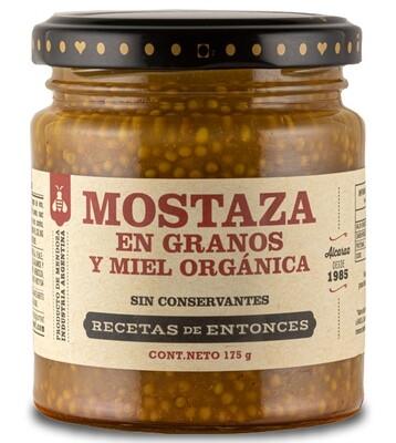 MOSTAZA CON MIEL Y SEMILLAS, RECETAS DE ENTONCES, 210 gr