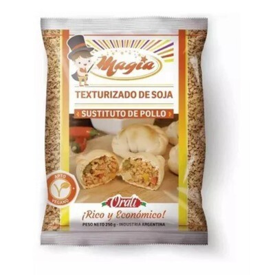 TEXTURIZADO DE SOJA - POLLO -, ORALI, 250 gr