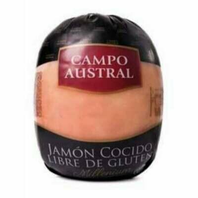 JAMON COCIDO NATURAL, CAMPO AUSTRAL, FETEADO FRACCIONADO