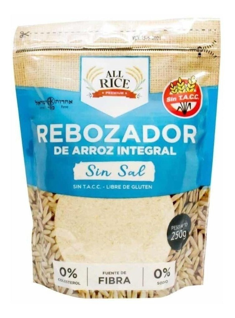 REBOZADOR DE ARROZ INTEGRAL SIN SAL, ALL RICE, 250 gr