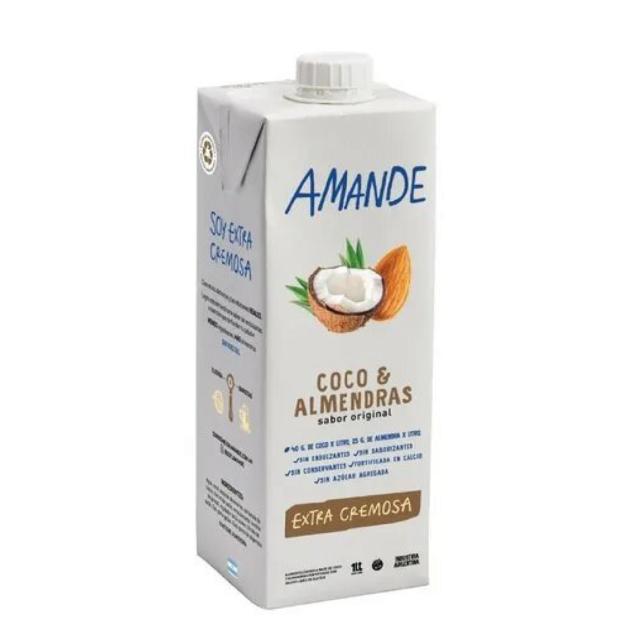 LECHE DE ALMENDRA Y COCO, AMANDE, 1 lt