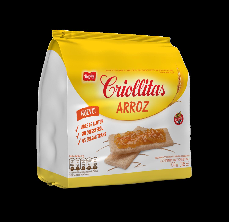 TOSTADAS DE ARROZ, CRIOLLITAS, 110 gr