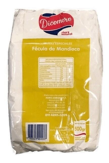FECULA DE MANDIOCA, DICOMERE, 500 gr