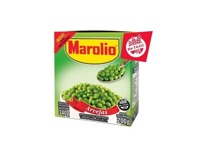 ARVEJAS SECAS REMOJADAS, MAROLIO, 340 gr