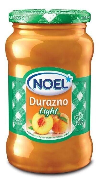 MERMELADA DE DURAZNO LIGHT, NOEL, 454 gr