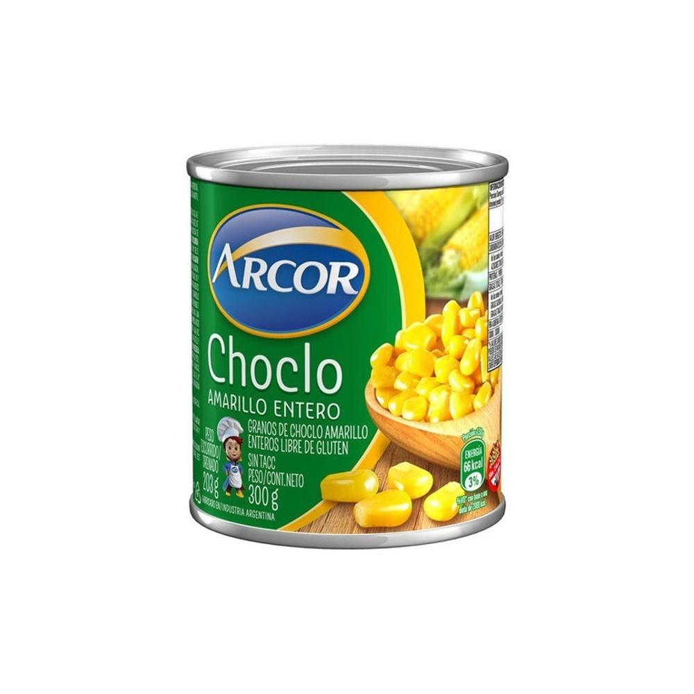 CHOCLO AMARILLO ENTERO, ARCOR, 300 gr