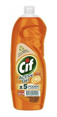 DETERGENTE CIF ACTIVE GEL, CITRICO, 300 ml