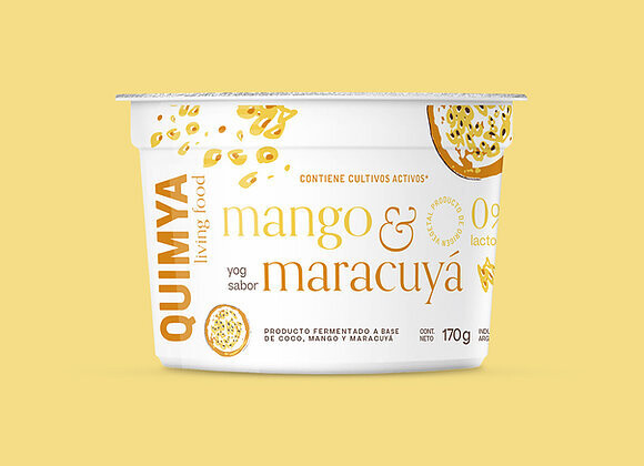 YOGURT CREMOSO SABOR MANGO Y MARACUYA, QUIMYA, 170 gr