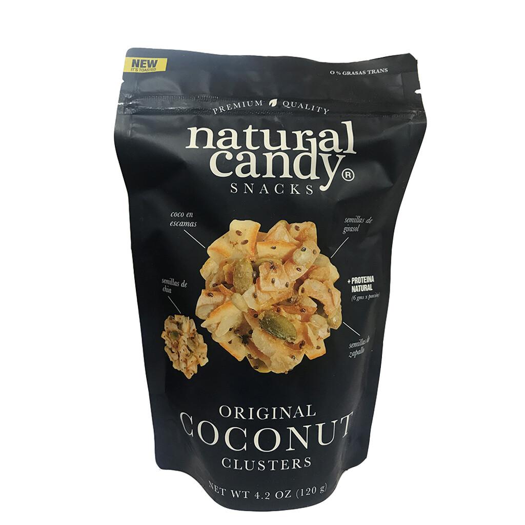 SNACK DE COCO ORIGINAL, NATURAL CANDY, 120 gr