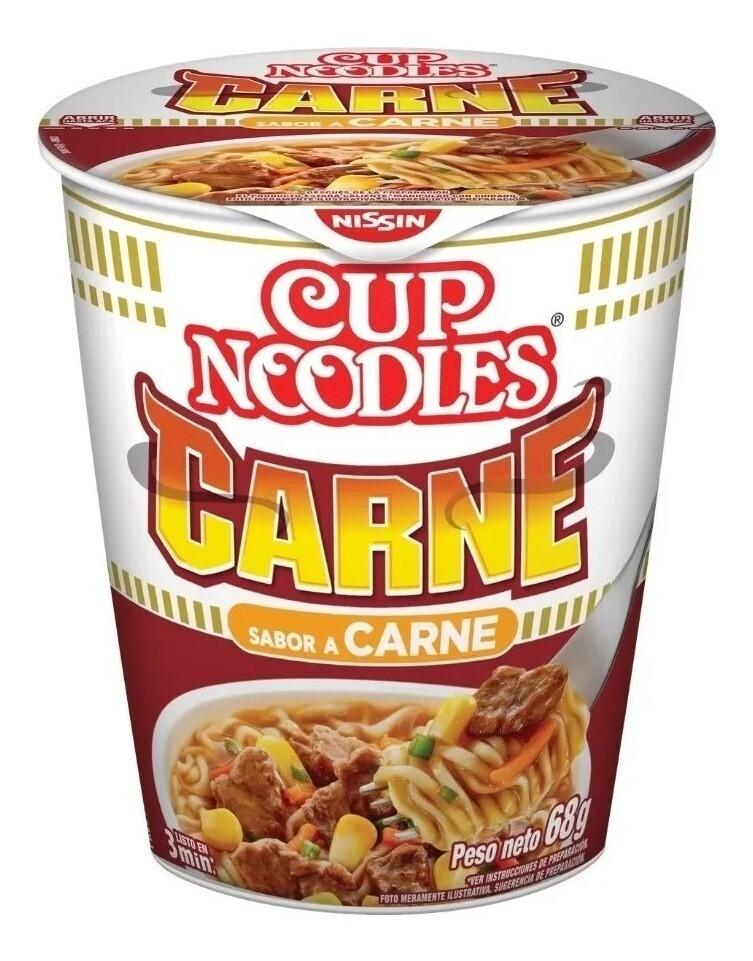 CUP NOODLES SABOR CARNE, 69 gr