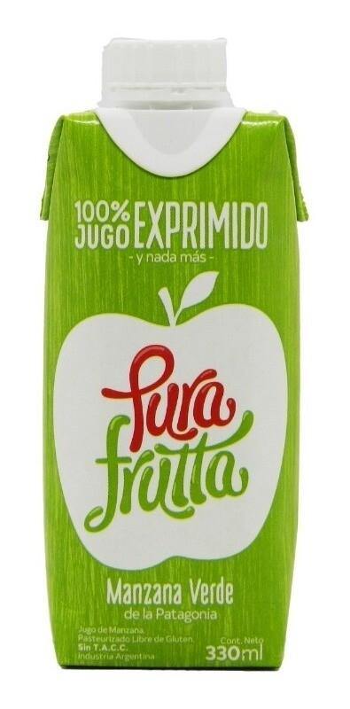 JUGO DE MANZANA VERDE, PURA FRUTTA, 330 ml