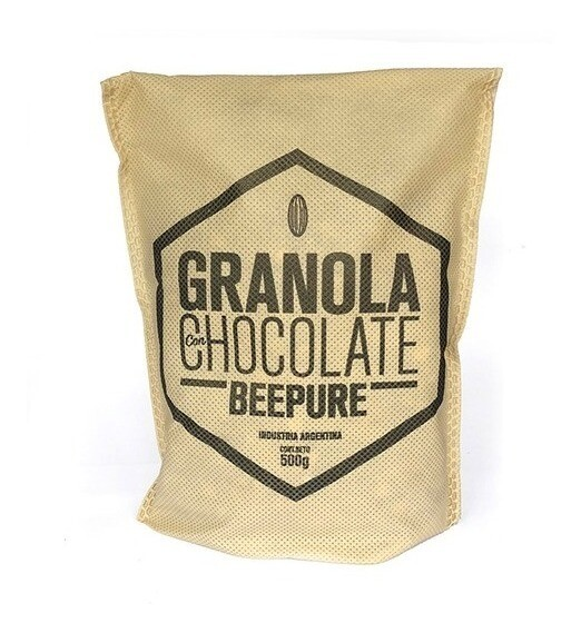 GRANOLA CON CHOCOLATE, BEEPURE, 500 gr