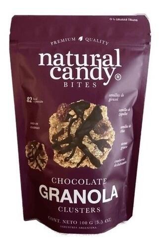 SNACK DE GRANOLA CON CHOCOLATE, NATURAL CANDY, 100 gr