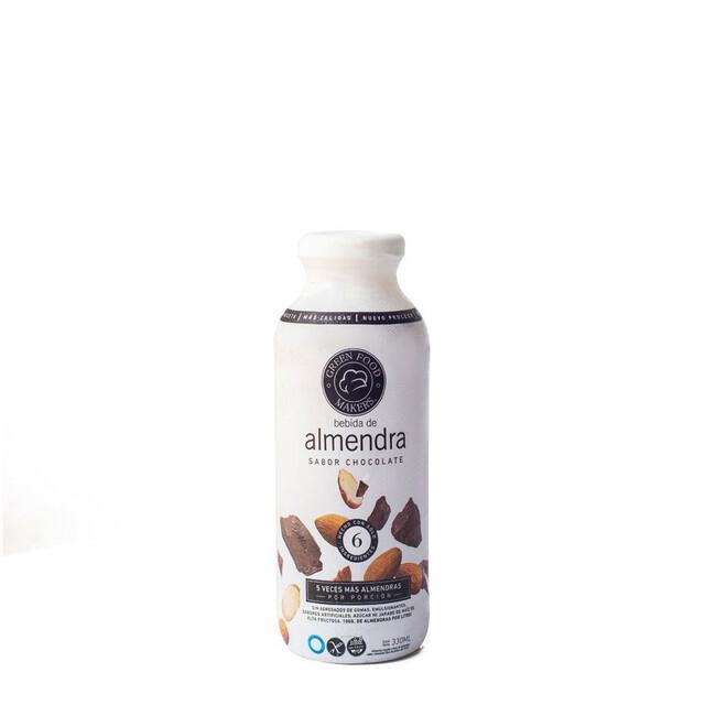 LECHE DE ALMENDRAS SABOR CHOCOLATE, GREEN FOOD MAKERS, 330 ml