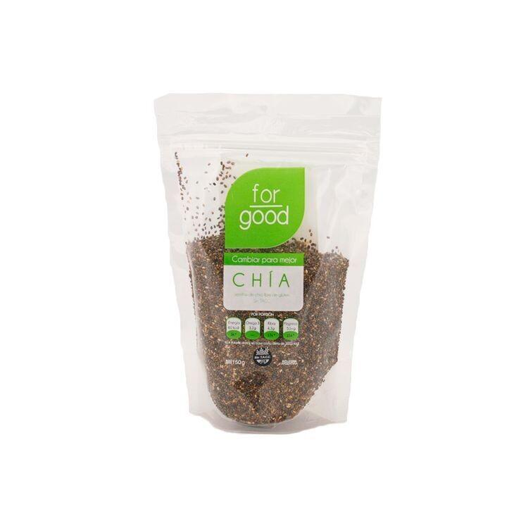 SEMILLAS DE CHIA, FOR GOOD, 150 gr