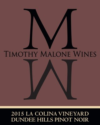 2015 La Colina Vineyard Pinot Noir Dundee Hills
