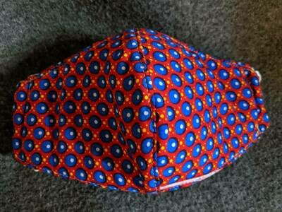Red with Blue Dots
