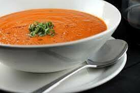 Tomato and Roasted Red Pepper Soup (Keto, Vegetarian, GF)