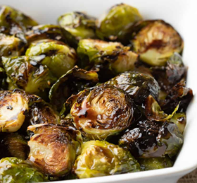 Balsamic Glazed and Roasted Brussel Sprouts