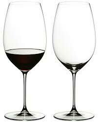 RIEDEL VERITAS CABERNET/MERLOT WINE GLASS: SET OF TWO