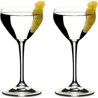 RIEDEL DRINK SPECIFIC GLASSWARE NICK & NORA GLASS: SET OF TWO