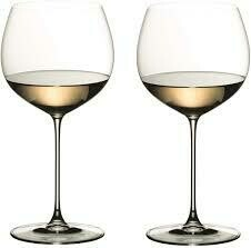 RIEDEL VERITAS OAKED CHARDONNAY WINE GLASS: SET OF TWO