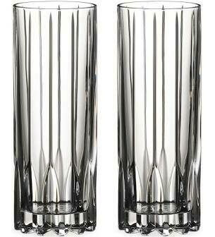 RIEDEL DRINK SPECIFIC  GLASSWARE FIZZ GLASS: SET OF TWO