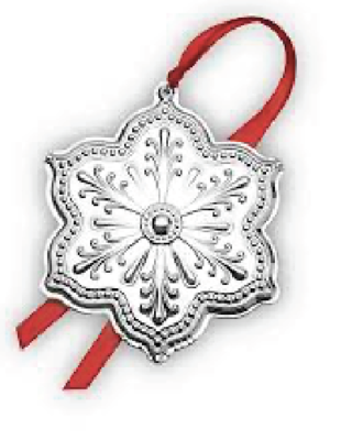 SNOWFLAKE ORNAMENTS: Silver Plate