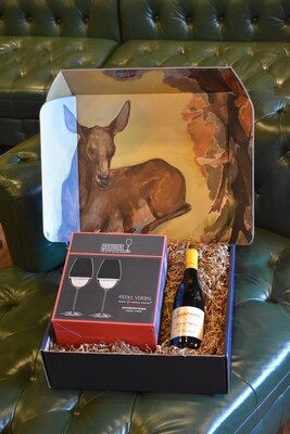 WH BOX WITH RIEDEL VERITAS SAUVIGNON BLANC SET OF TWO GLASSES AND A BOTTLE OF GERARD BOULAY SANCERRE CHAVIGNOL TRADITION BLANC 2019