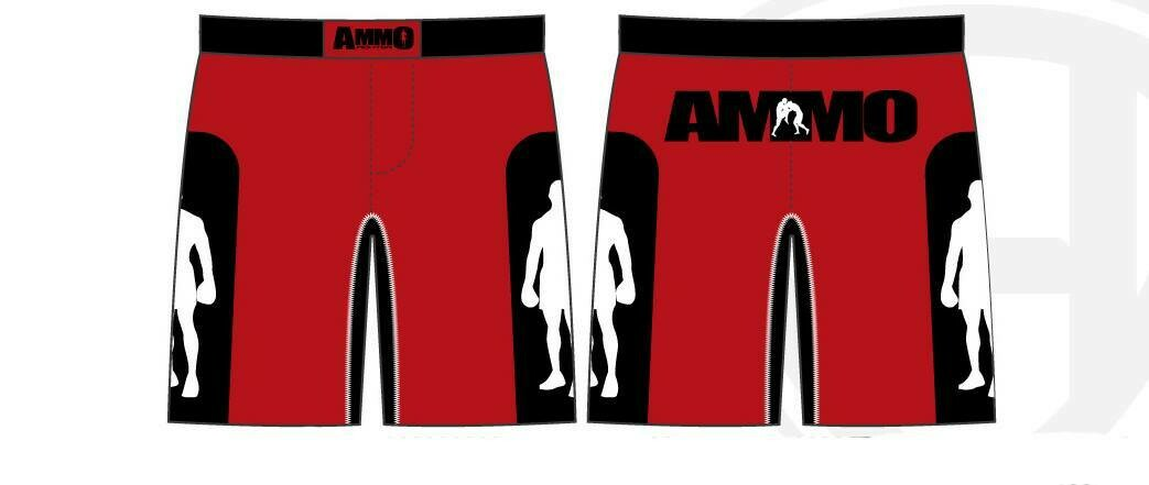 Red/Black MMA shorts