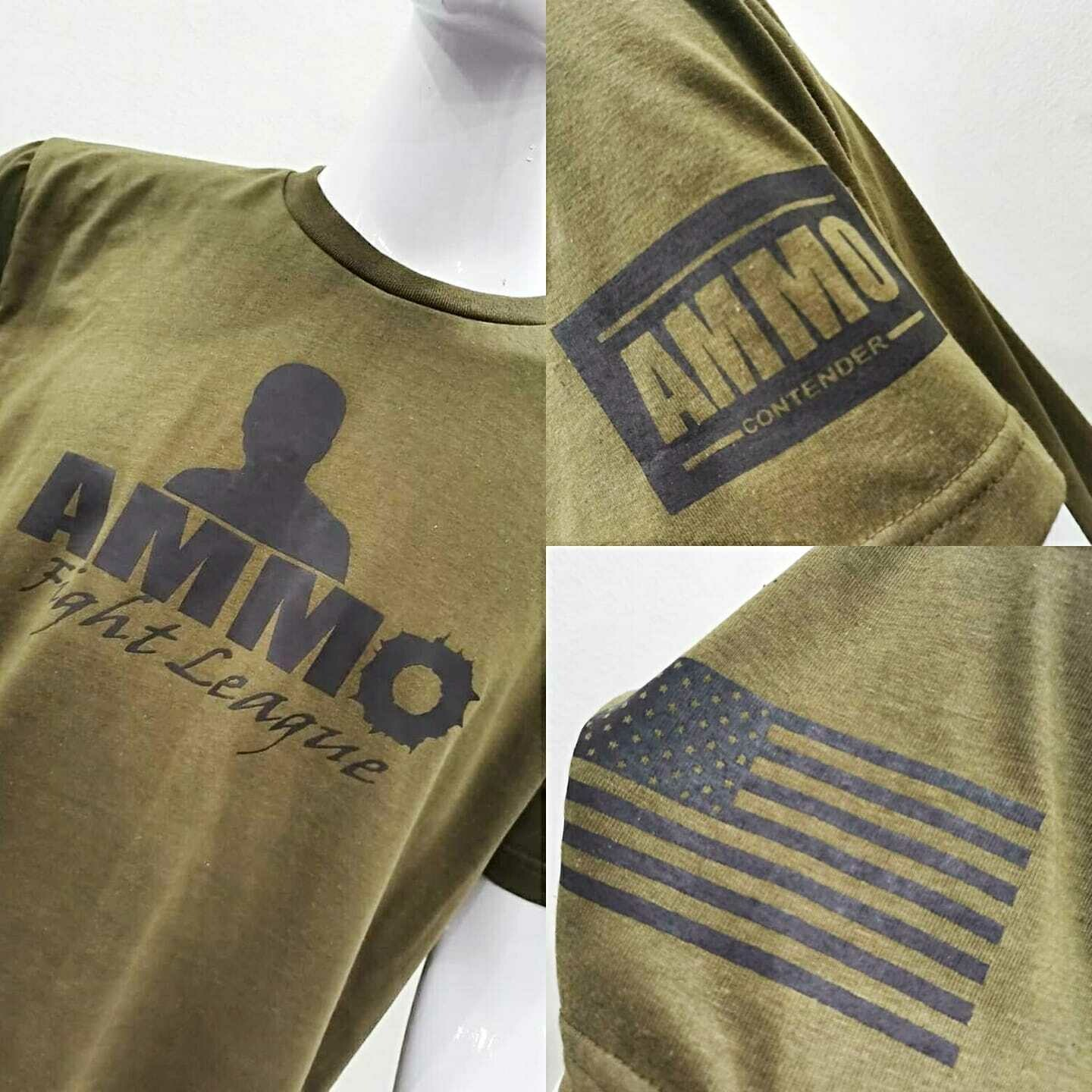 Adult Army Green AMMO Tee Shirts