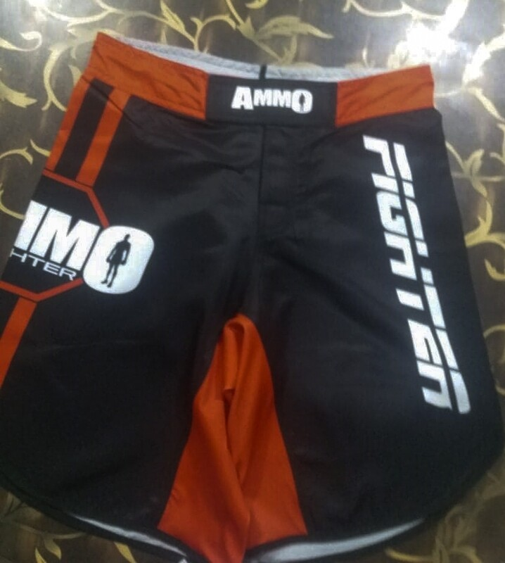 Adult Red/Blue & Black AMMO MMA Shorts
