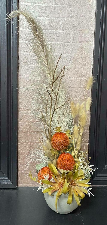 Bright Orange Native Dried Arrangement