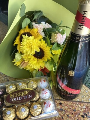 Mumm, Blooms and Ferrero Chocolates