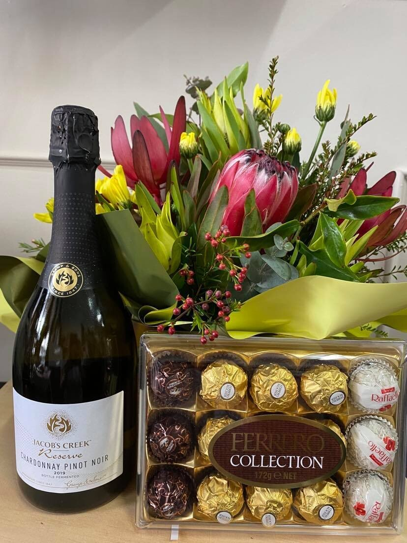 Blooms, Vino and Chocolate - Bubbles