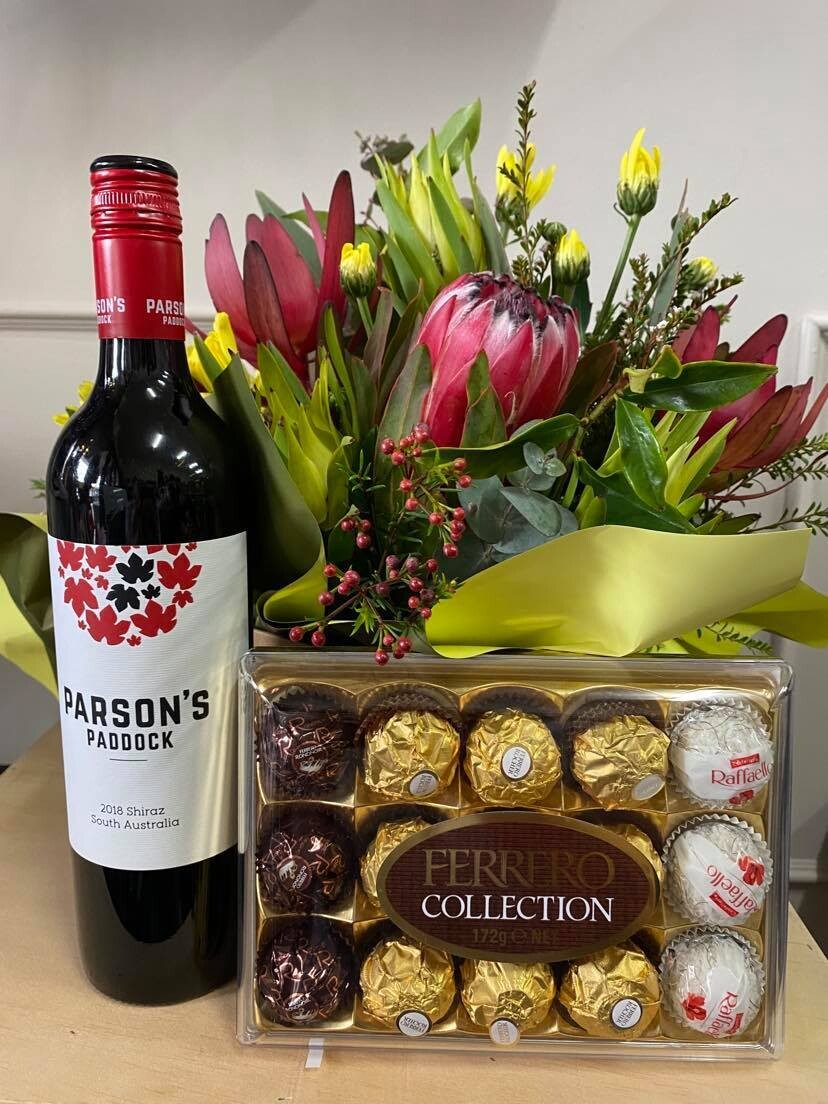 Blooms, Vino and Chocolate - Red