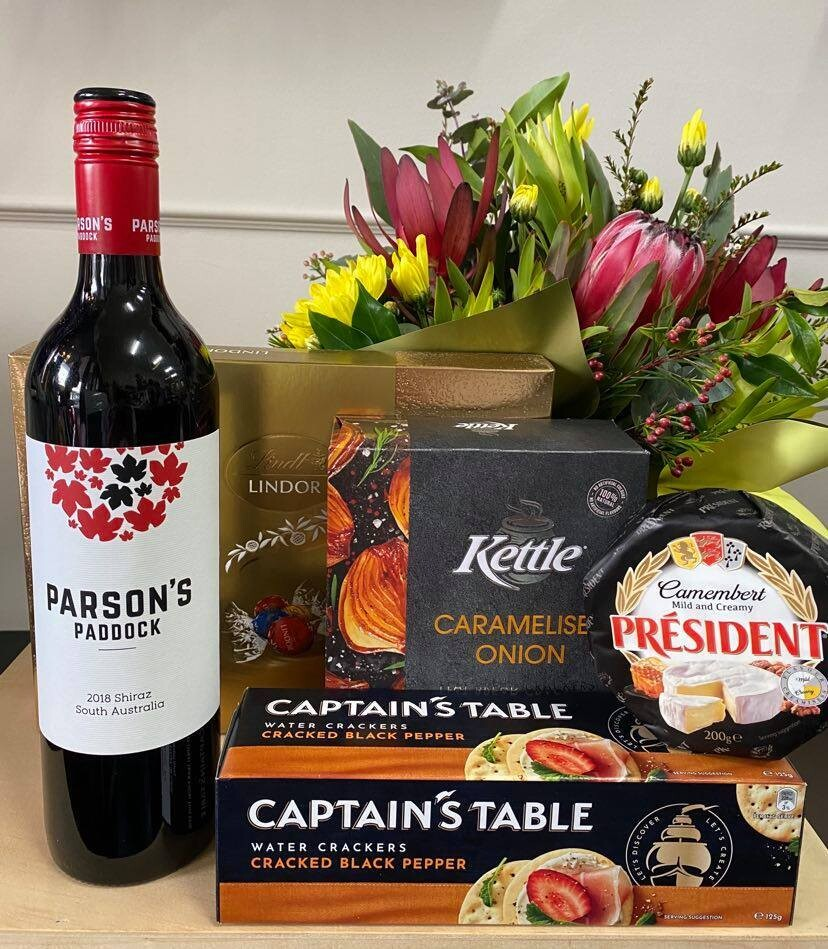 A Basket for All Occasions with Red Wine