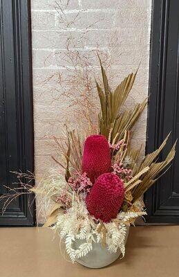 Hot Pink Native Dried Arrangement
