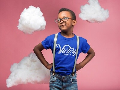 """""""Victory"""" Script Style - Youth T-Shirt"""