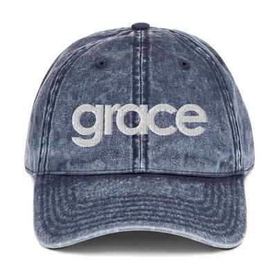 """""""Grace"""" Vintage Cotton Twill Cap"""