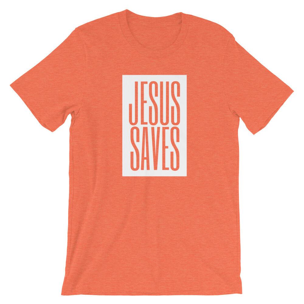 """""""Jesus Saves"""" Colors Unisex T-Shirt"""