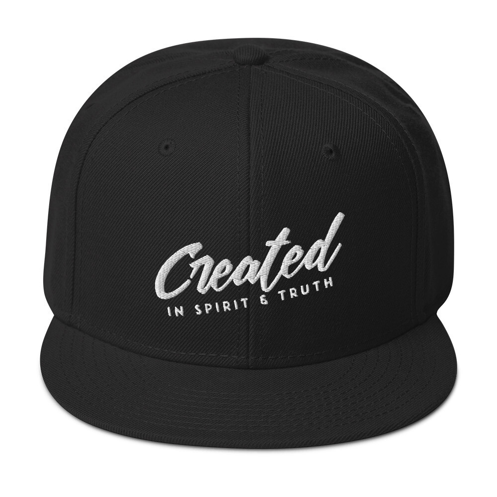 """Created to Worship"" Wool Snapback"