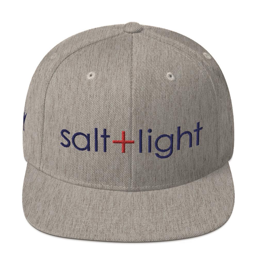 """Salt + Light"" Navy Blue Embroidery Snapback"