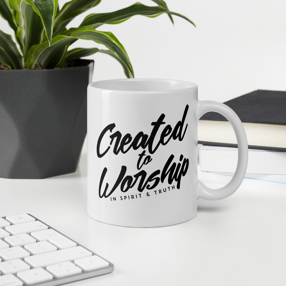"""Created to Worship"" Mug"