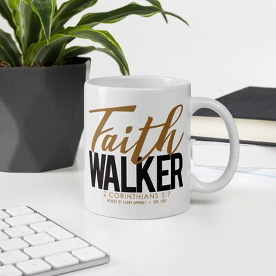 """Faith Walker"" Mug - Gold & Black"