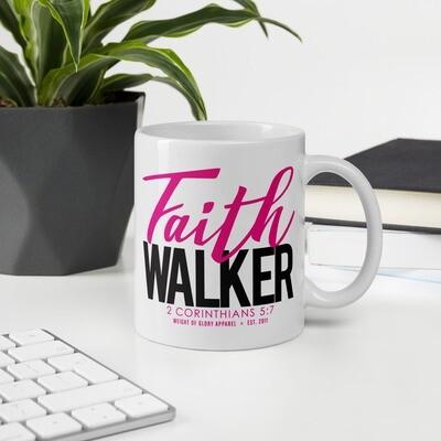 """Faith Walker"" Mug - Pink & Black"