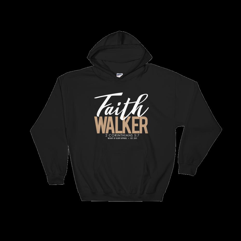 """Faith Walker"" Hooded Sweatshirt - White & Khaki"