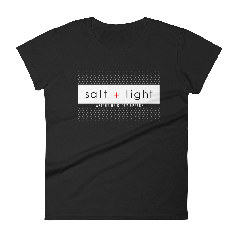 """Salt + Light"" Women's Slim Fit T-Shirt - Black"