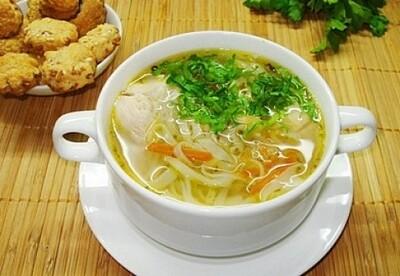 Суп-лапша с курицей